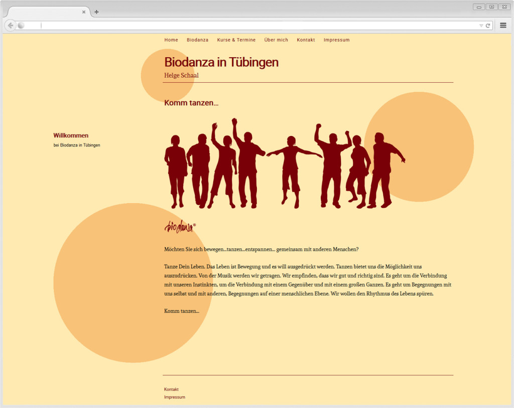 Website Biodanza Tübingen